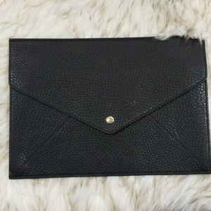 Gucci Soho Black leather envelope clutch